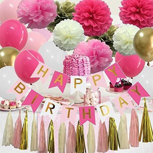 Imagen 1 de 4 de Decoraciones De Cumpleaños Kit De Rosas Fuertes - Glabby Ha