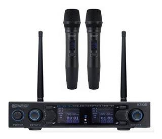 Krieg K734d -set Sistema Inalámbrico Dos Micrófonos De Mano