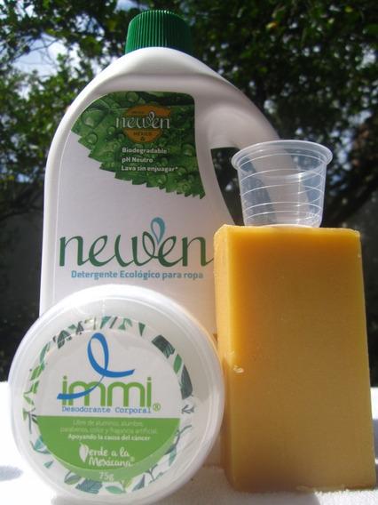 Newen 1 Lt + Barra + Desodorante Natural Immi Ecológico 75 G