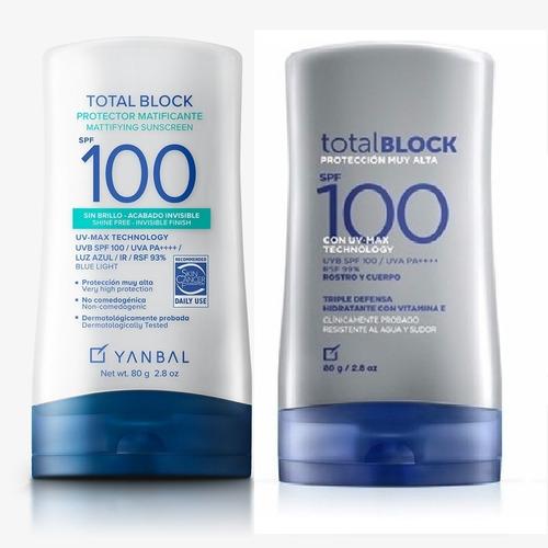 2 Bloqueador Total Block Spf 100 - g a $461