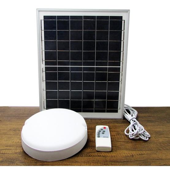 Lâmpada Solar Luminária 25w + Placa Solar Para Casa De Campo