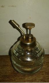 Perfumeiro Vidro Com Bomba Bronze 13 Cm Alt. Bomba Func
