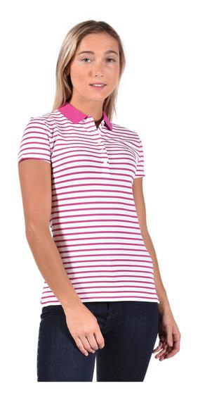 Polo Slim Fit Tommy Hilfiger Rosa Ww0ww23706-605 Mujer