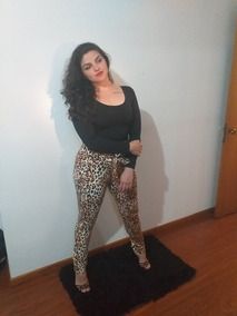 Calça Animal Print + Boddy Preto