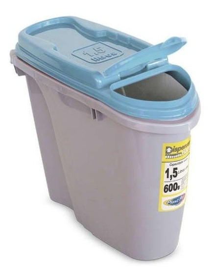 Porta Ração Dispenser Home Plast Pet 1,5l Azul