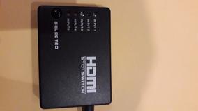 Chave Seletora Switch Hdmi 5 Ent 1 Saída C/ Controle E Fonte