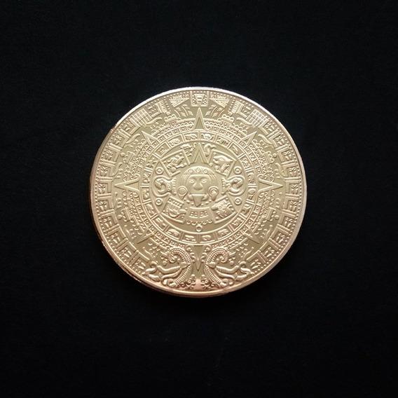 3d Comemorativo Moeda Mayan Moeda Asteca Profecia Pirâmide