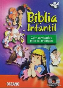 Bíblia Infantil Com Atividades Para As Crianças + Brinde