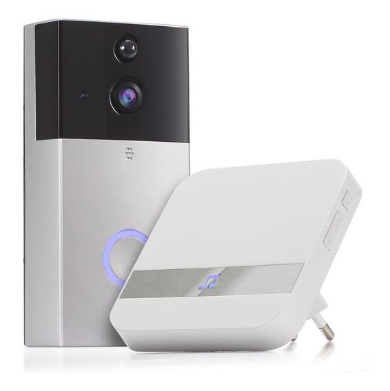 Campainha Smart Porteiro Eletrônico Wifi Câmera Interfone Hd