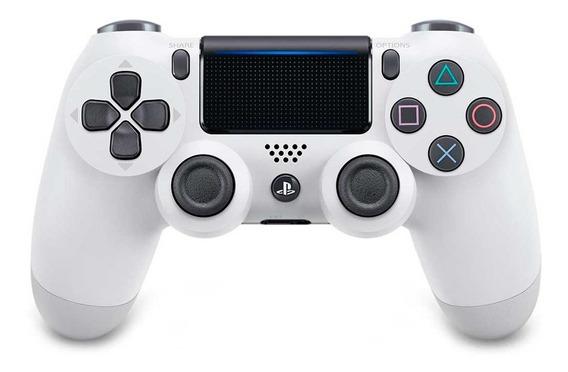 Controle Sem Fio Dualshock 4 Sony Para Ps4 Branco Glacial