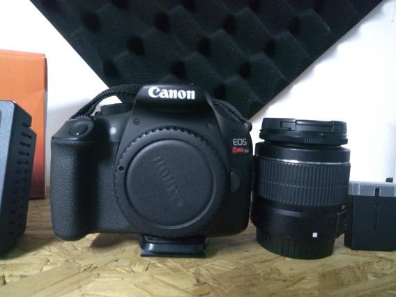 Câmera Canon Eos Rebel T6 + 1 Bateria Adicional+refletor Led
