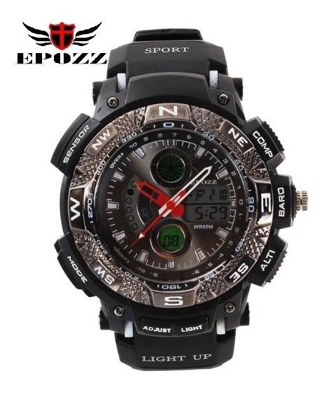 Relógio De Pulso Epozz Ep-1311 Importado Preto E Branco