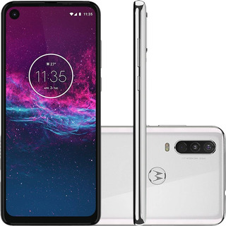 Celular Motorola Moto One Action 128gb Branco 6.3 Câm Tripla