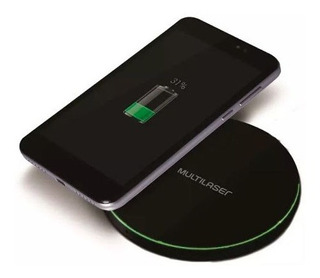 Carregador Wireless Ultra Rapido 10w Preto Multilaser Cb130