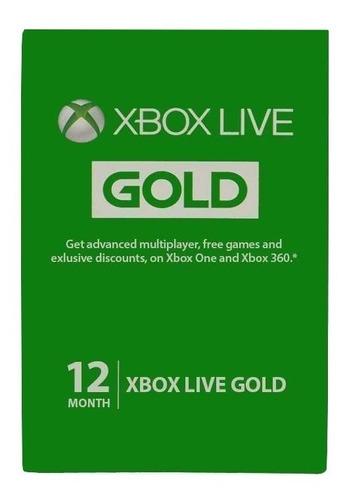 Xbox Live Gold 12 Meses 1 Año Brasil Vpn Codigo