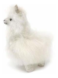 Figura En Miniatura De Alpaca De Pie Color Blanco 5.0in