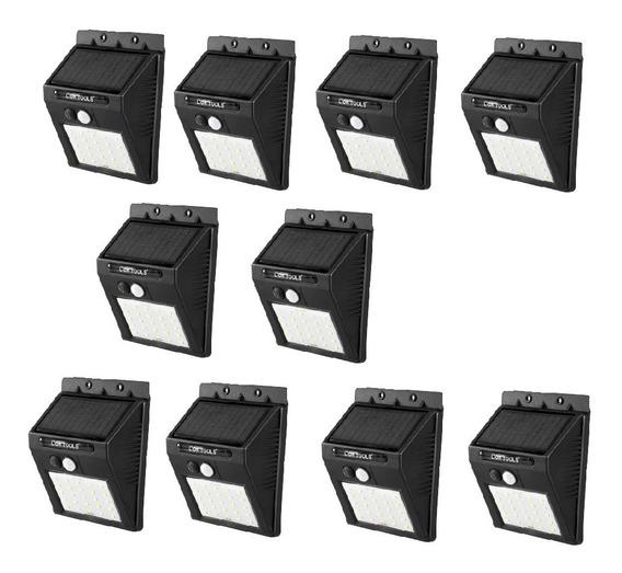 Lámpara Solar Led 10 Pack Sensor De Movimiento Y Luz Ip65