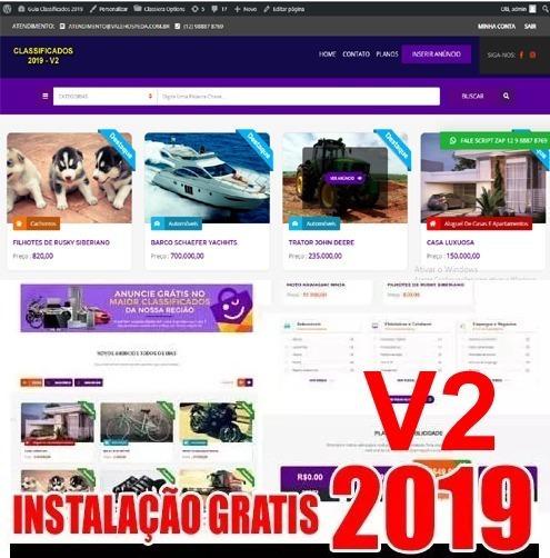 Script Guia Comercial Classificados 2019 V2 Wordpress
