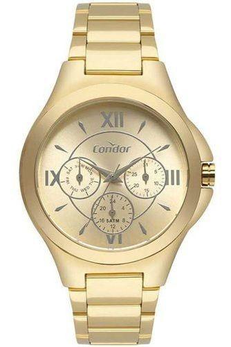 Relógio Feminino Dourado Multifunção Condor Co6p29iu/4d