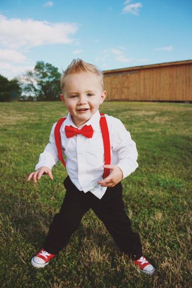 Moño + Tirante Niño Bebe 1 A 8 Años Rojo Envio Gratis Moda