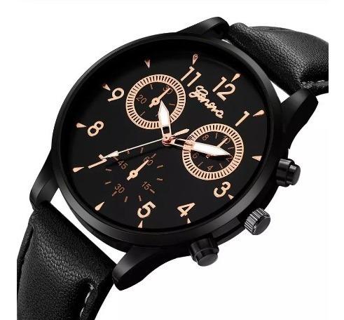 Relógio Geneva Pulseira De Couro