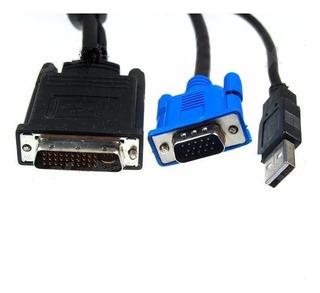 Cable Proyector Infocus Lp 120 Lp130 Ls1 M1_a Usb Vga Dell