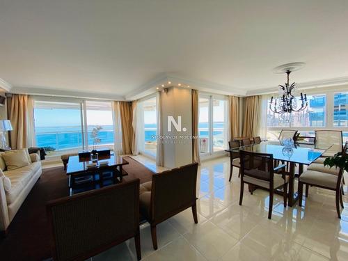 Departamento De 3 Dormitorios En Millenium Tower, Punta Del Este- Ref: 3345