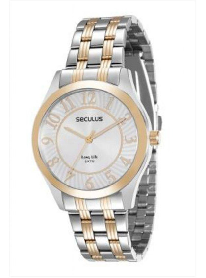 Relógio Seculus Long Life Misto Unissex 20423lpsvba3