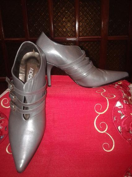 Zapatos Tipo Botitas De Cuero