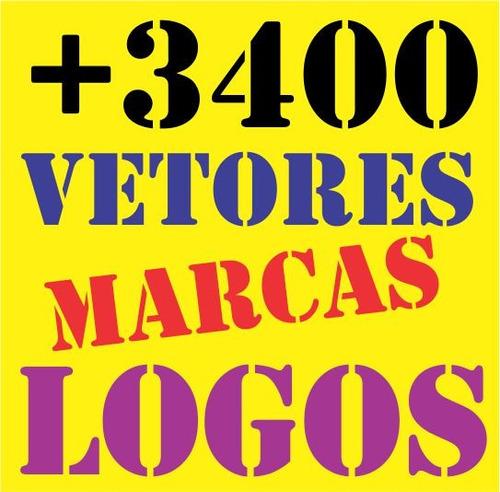 +3400 Vetores Logotipos Marcas Logomarcas Gráfica Artefinal