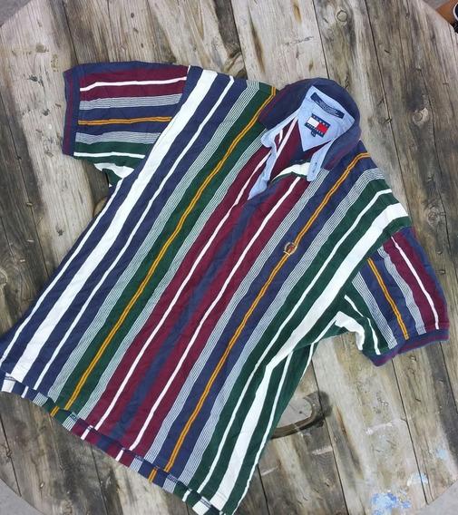 Camisa Tommy Hilfiger Vintage Años 90s Tipo Polo Talla M