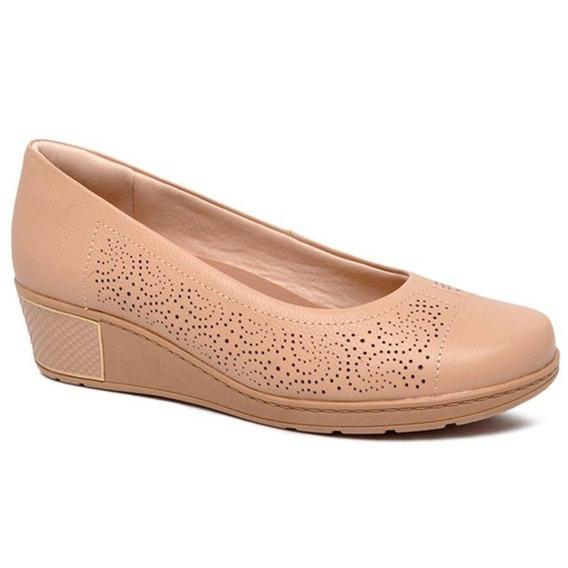 Sapato Usaflex Feminino Blush Bege - Ab7904