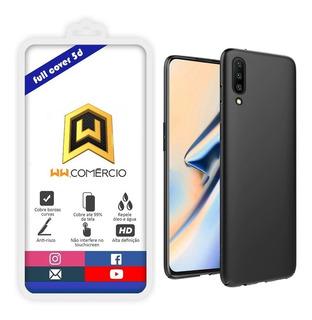 Capa Ultra Fina Galaxy A10 A20 A30 A50 Com Película 5d