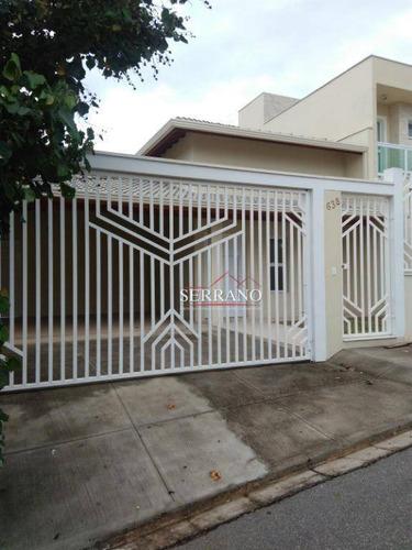 Imagem 1 de 18 de Casa Com 3 Dormitórios, 163 M² - Venda Por R$ 753.500,00 Ou Aluguel Por R$ 4.000,00/mês - Jardim Elisa - Vinhedo/sp - Ca0557