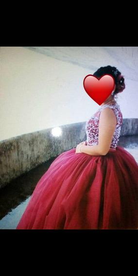 Vestido De Xv Años Edición 2019, En Color Vino!
