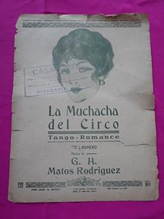 Partitura La Muchacha Del Circo Tango Romance Matos Rodrigue