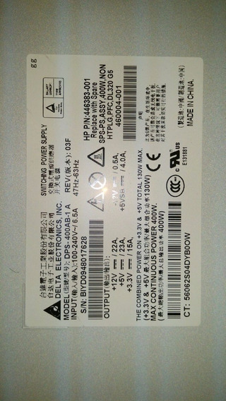 Servidor Hp Proliant Dl320 G5p