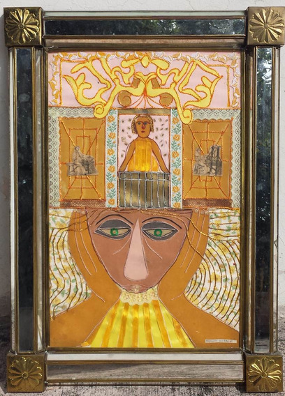 Rodolfo Morales Collage Marco Espejo Original 1984 Provenanc