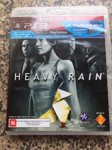 Heavy Rain Português Ps3 Midia Fisica Novissimo Frete $10
