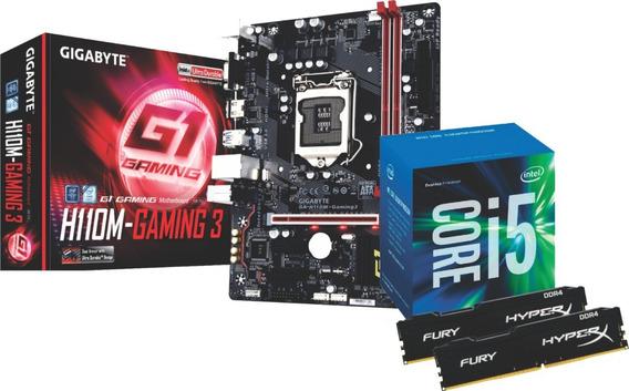 Kit Intel Core I5 7400 Gigabyte H110m Hyperx 2x 8gb 2666mhz