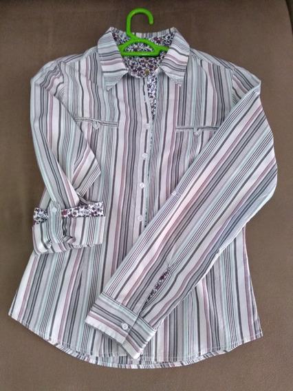 Camisa Listrada Em Ótimas Condições