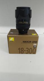Lente Objetiva Nikon 18-300mm F/3.5-6.3g Ed Vr Usada Garanti