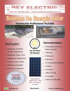 Sistema De Paneles Solares De 14 Kilo-watts-horas Diarias