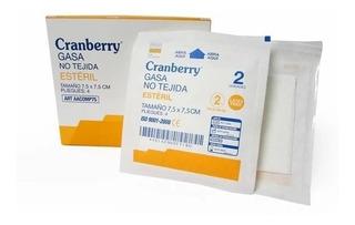 Gasa Estéril No Tejida 7,5 X 7,5 Cranberry - 50 Sob X 2