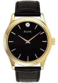 Reloj Bulova 97f55 Corporate Para Hombre Original Piel