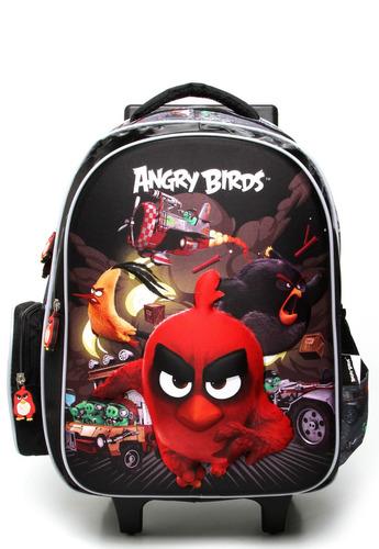 Mochilete Escolar Masculina 3d Angry Birds - Abc800601 Sanya