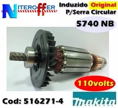 Induzido Original P/serra Circular 5740 Nb 110v Makita