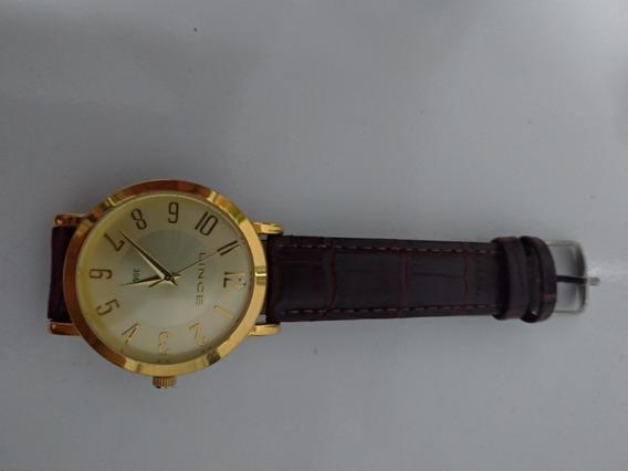 Relógio Lince - Feminino Couro