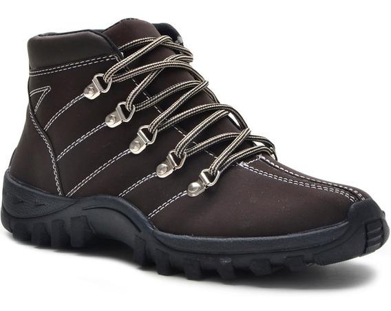 Bota Sapato Adventure Em Couro Nobucado + Frete Gratis