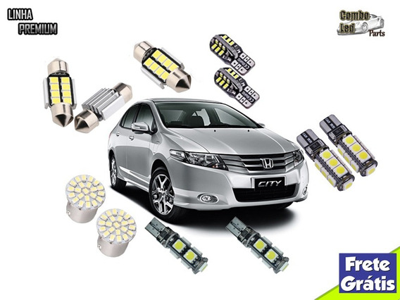 Kit Premium Lâmpadas Led Honda City Brancas Efeito Xenon